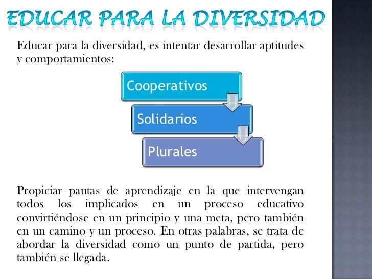 Diversidad en el aula de clases Slide 3