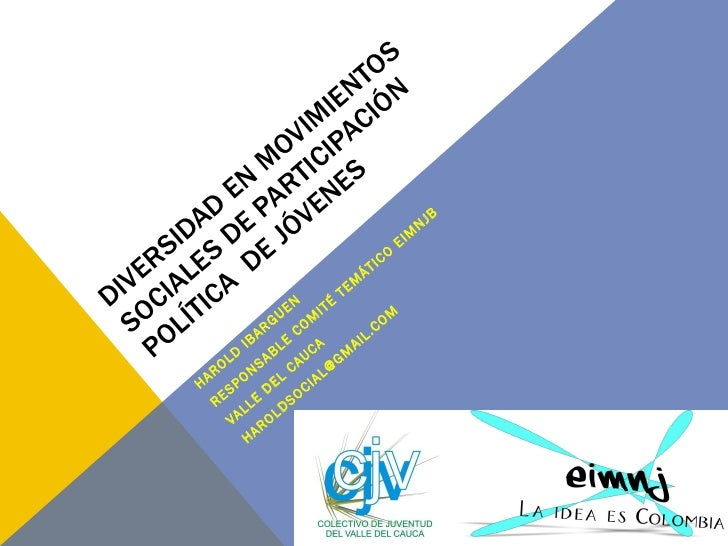 Diversidad en movimientos sociales de participación política 2