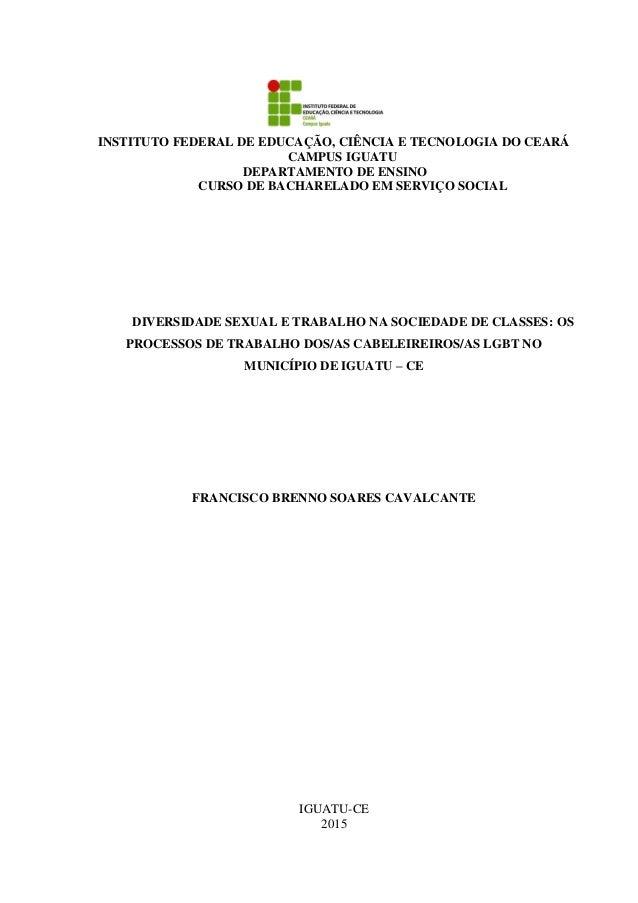 INSTITUTO FEDERAL DE EDUCAÇÃO, CIÊNCIA E TECNOLOGIA DO CEARÁ CAMPUS IGUATU DEPARTAMENTO DE ENSINO CURSO DE BACHARELADO EM ...