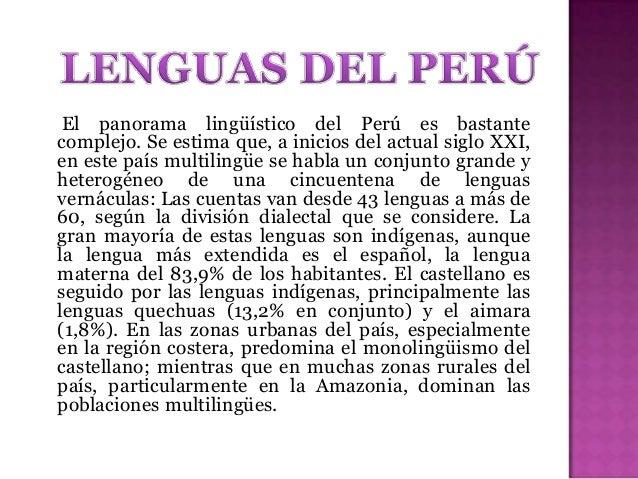 Pequeñas familias lingüísticas y lenguas aisladas de Perú (siglo XVI).