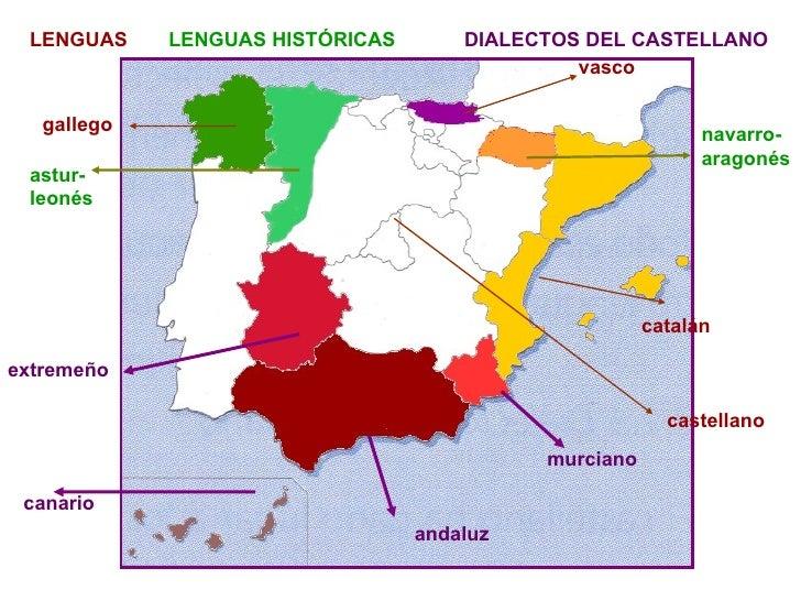 Resultado de imagen de dialectos del español