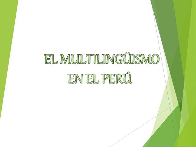 El Perú es un país multilingüe porque dentro de su territorio coexisten muchas lenguas; unas setenta aproximadamente. Más...