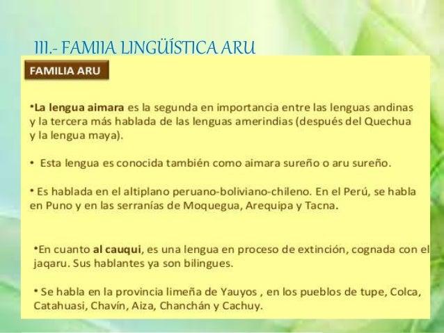 IX.- FAMILIA LINGÜÍSTICA PEBA- YAGUAUbicada en el extremo nororiental del Perú en las riberas del amazonas. solo la lengua...