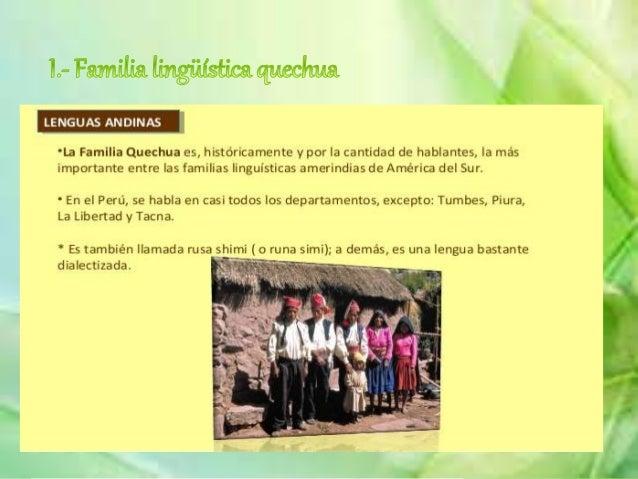 Las familia arahuaca se encuentra distribuida en las provincias de Puerto Inca (Huánuco), Chanchamyo y Satipo (Junín), Ma...