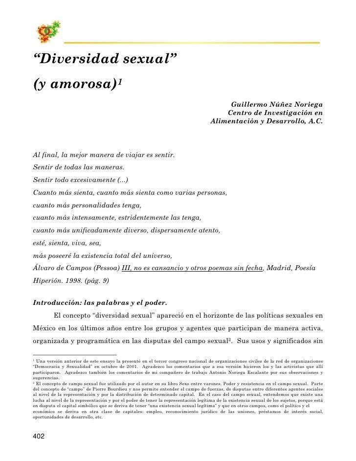 """""""Diversidad sexual"""" (y amorosa)1                                                                                          ..."""
