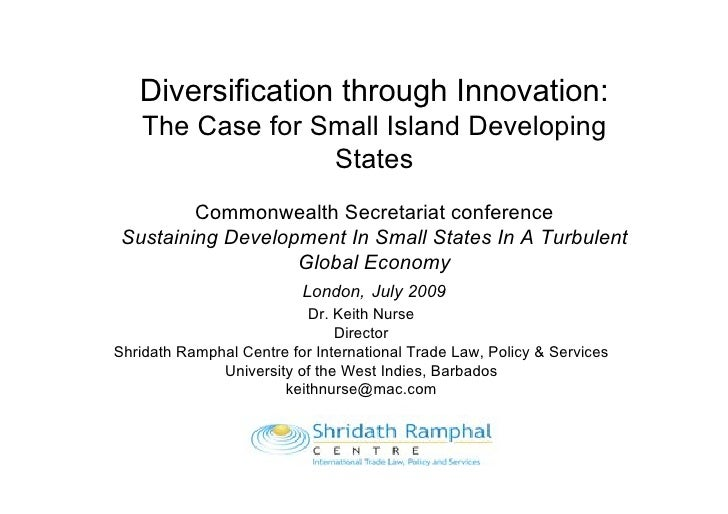 Diversification through Innovation:    The Case for Small Island Developing                  States          Commonwealth ...