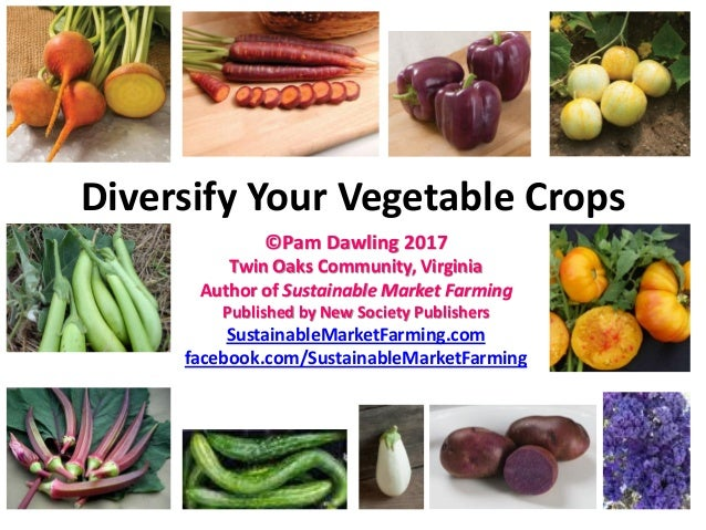 Diversify Your Vegetable Crops ©Pam Dawling 2017 Twin Oaks Community, Virginia Author of Sustainable Market Farming Publis...