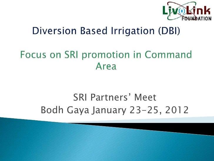 SRI Partners' MeetBodh Gaya January 23-25, 2012
