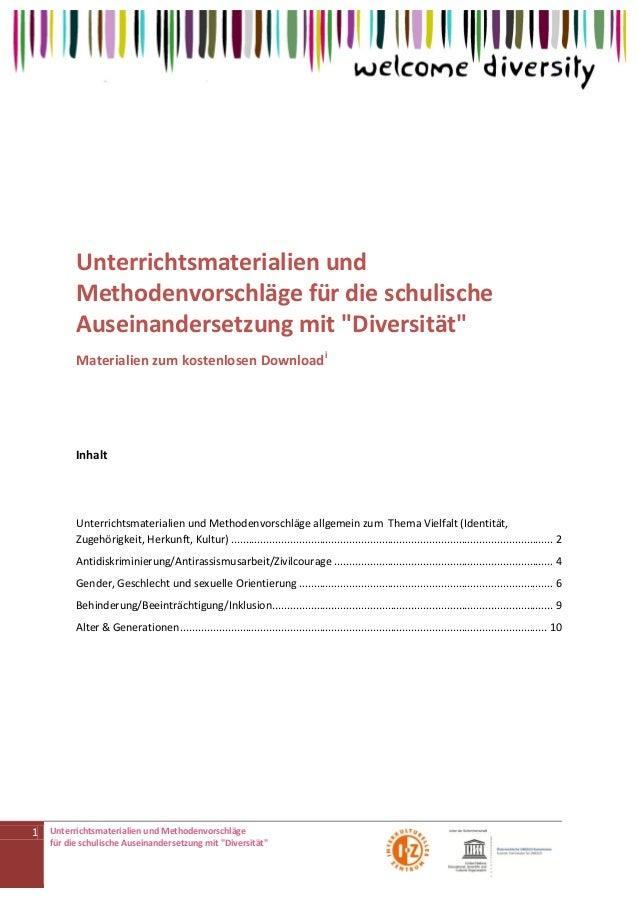 Diversitaet - Sammlung von Unterrichtsmaterialien