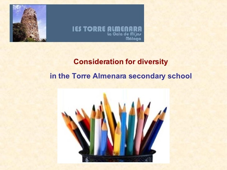 Consideration for diversity in the Torre Almenara secondary school