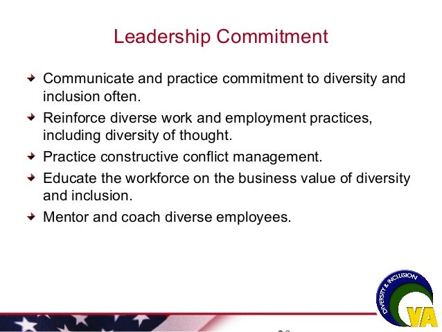 strategies to ensure future compliance and inclusion in the multicultural workplace Promoting workplace diversity has many bottom  develop a hiring strategy to increase workforce diversity  it's important to show they have a future in the.