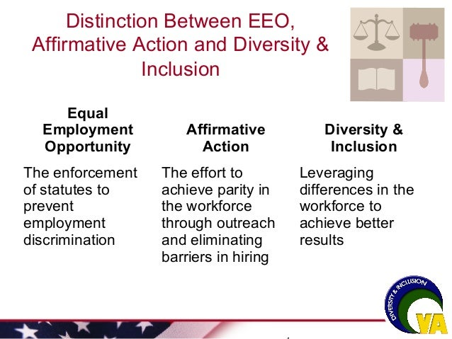 differences between equal employment opportunity initiatives And that's just what we are doing at salesforce significant wage differences between on equal opportunity and equal advancement by.