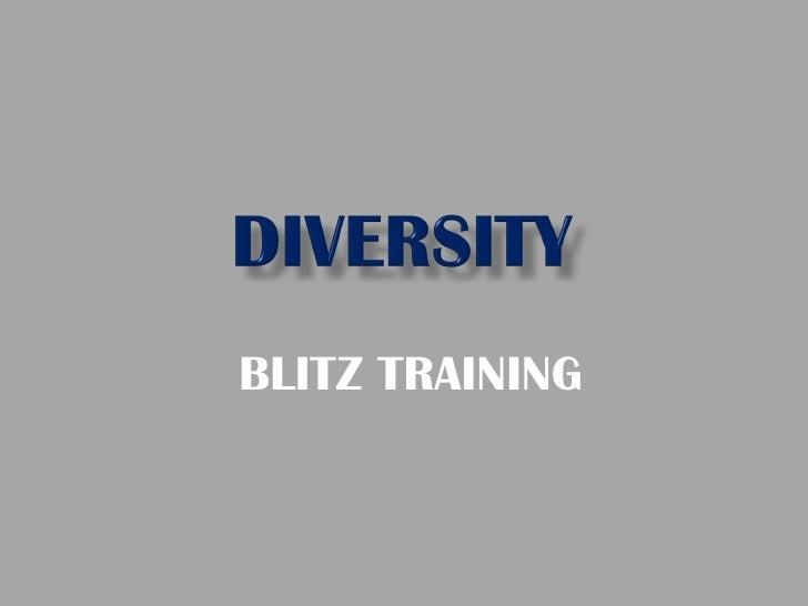 BLITZ TRAINING