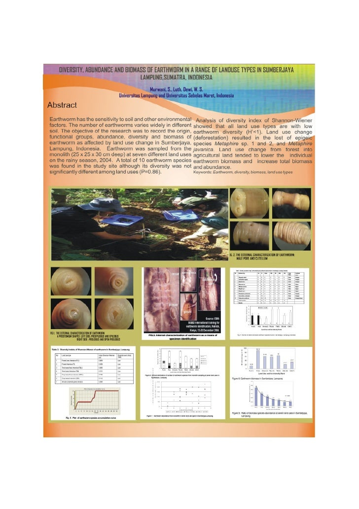 Diversity, abundance and biomass of earthworms in a range of land use types in sumberjaya lampung, sumatra, indonesia