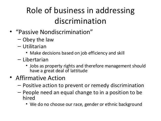 utilitarian discrimination Discrimination is an inextricable part of original sin and therefore cannot take place without spiritual consequences the basic purpose of humanity's existence on earth is a life process.