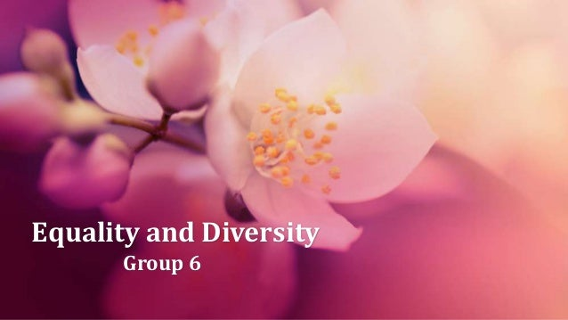 Equality and Diversity Group 6