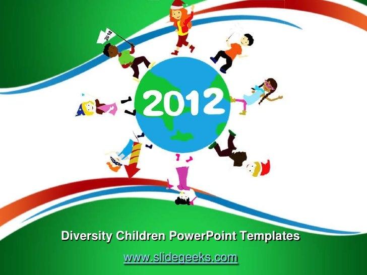 Diversity Children Power Point Templates