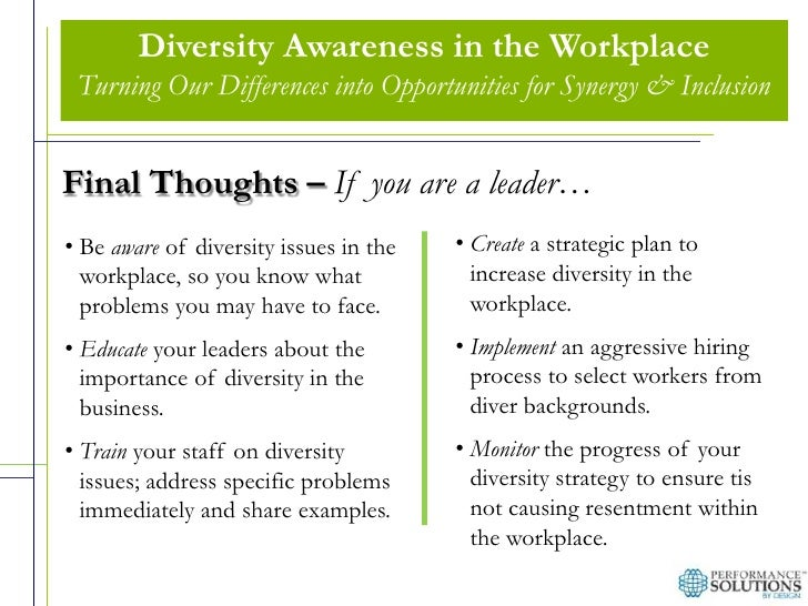 defining diversity and the importance of diversity in the workplace