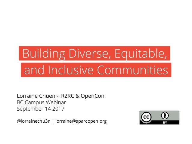 Lorraine Chuen - R2RC & OpenCon @lorrainechu3n | lorraine@sparcopen.org