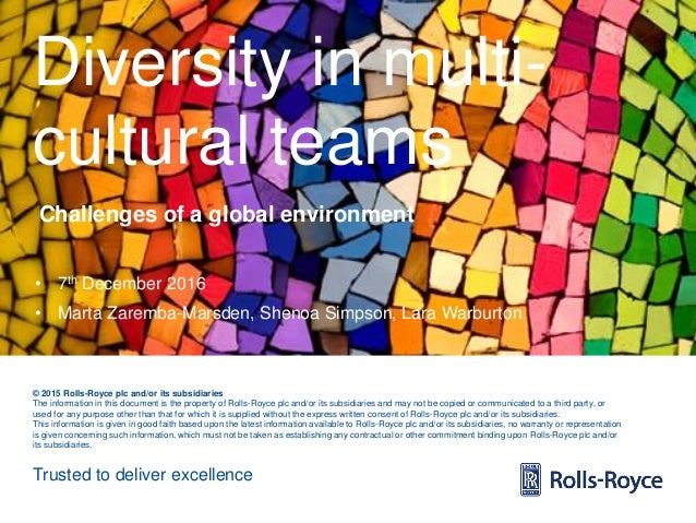 Trusted to deliver excellence © 2015 Rolls-Royce plc and/or its subsidiaries The information in this document is the prope...