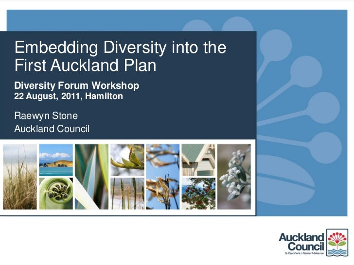 Embedding Diversity into theFirst Auckland PlanDiversity Forum Workshop22 August, 2011, HamiltonRaewyn StoneAuckland Council