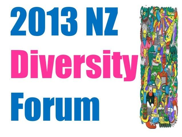 2013 NZ Diversity Forum