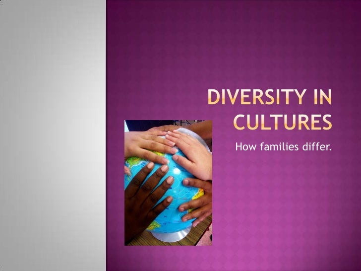 Diversity in cultures <br />How families differ.<br />