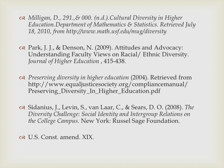 essay about diversity in education Canada diversity (student) abstract a major benefit of inclusive education  is to give students and staff learning and teaching opportunities that reflect.