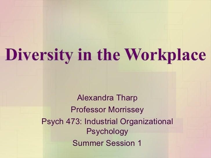 Alexandra Tharp Professor Morrissey Psych 473: Industrial Organizational Psychology Summer Session 1
