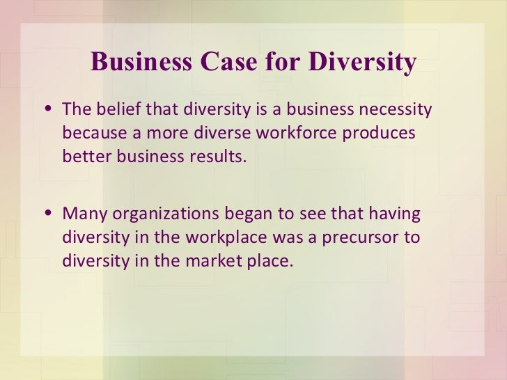 the business case for diversity james The business case for diversity presented at winchester, va area shrm winchester, va, june 24, 2015 by stan c kimer, president and owner, total engagement consulting by kimer.