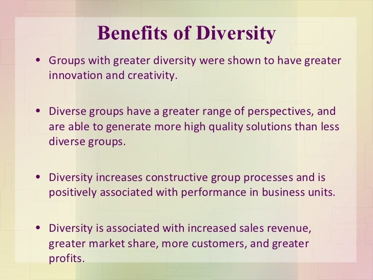 the value of diversity essay Shared values and diverse ideas in healthcare environment essay  after  highlighting the significance of shared values and diverse ideas to an  organisation,.
