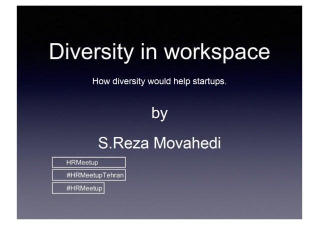 Diversity in workspace