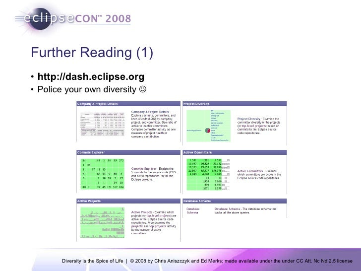 EclipseCon 2008: Diversity Is The Spice Of Life