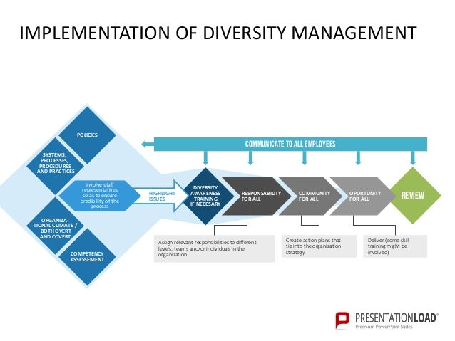 diversity management plan essay Also, ensuring a wide range of diverse employees at all levels – from entry level to executive management – helps to reinforce true commitment to diversity and inclusion effective communication can make or break a company, a product, or a diversity initiative.