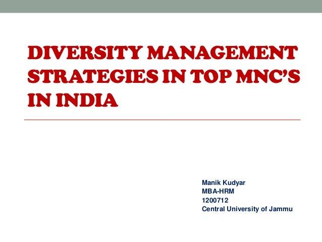 Workplace diversity strategy