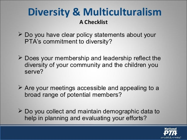 "diversity an multiculturalism ""from multicultural festivals to pronouncements from political leaders, the message is the same: our differences make us stronger"" (jonas 3) diversity is the many differences that different ."