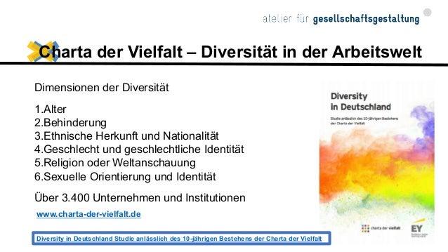 Diversity in Deutschland Studie anlässlich des 10-jährigen Bestehens der Charta der Vielfalt 2016 Executive Summary I