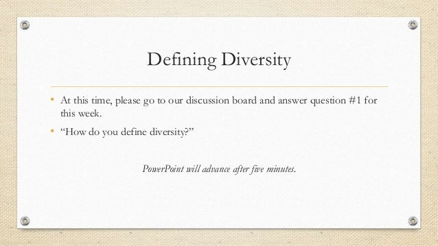 Define Diversity PowerPoint