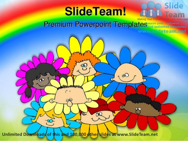 Diversity Of Flowers Children Power Point Templates Themes