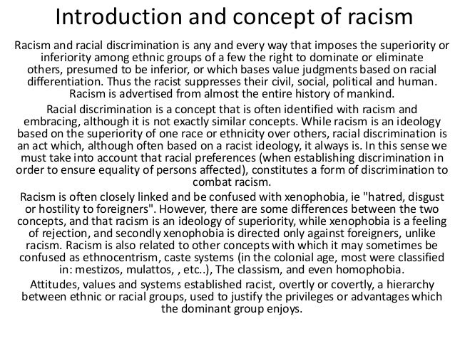 Essay racial discrimination