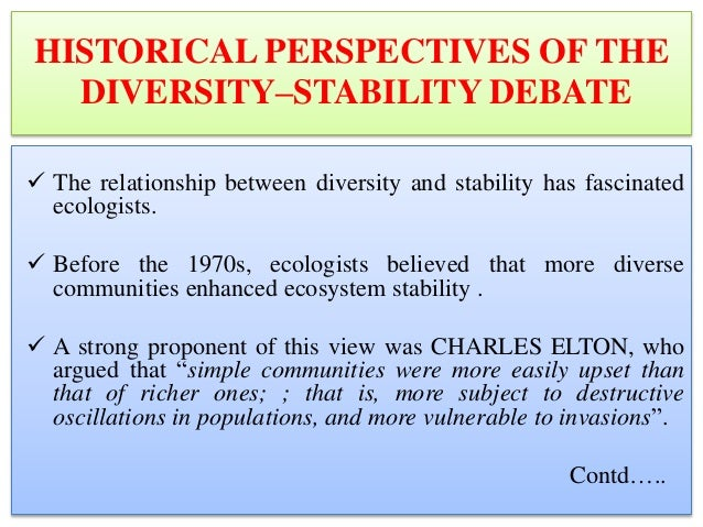 stability of ecosystem