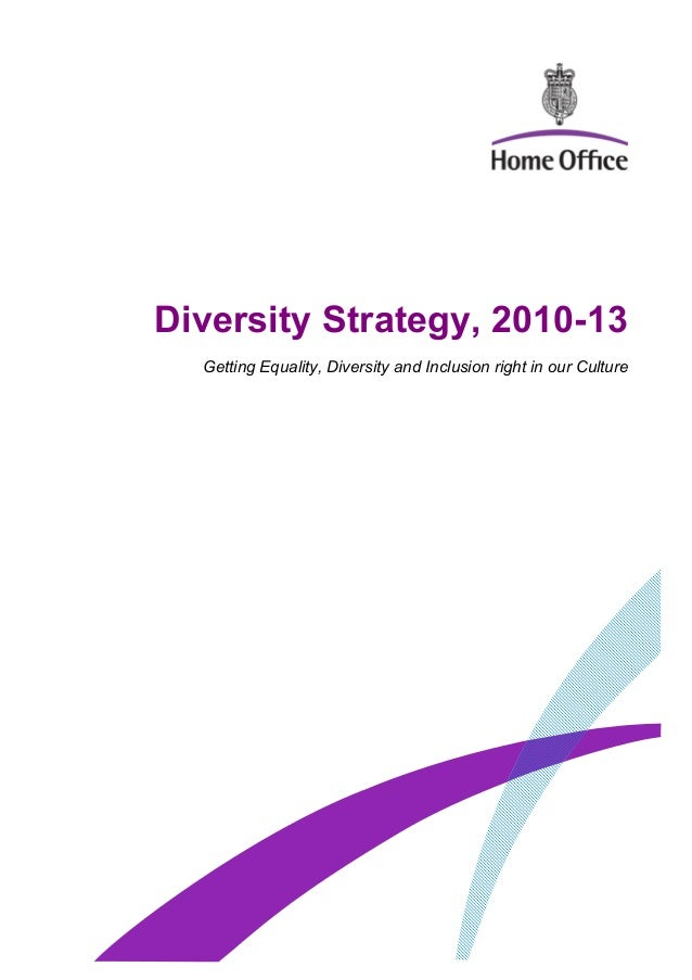 Diversity Strategy, 2010-13 Getting Equality, Diversity and Inclusion right in our Culture