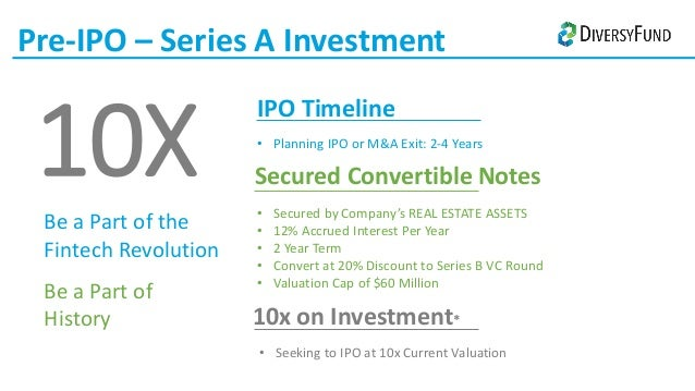 Pre ipo convertible note