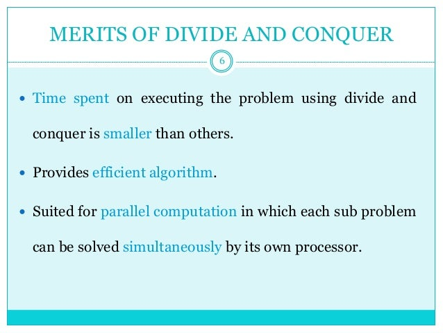 Divide and conquer - Quick sort