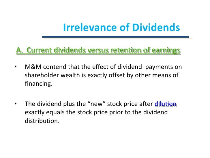 dividend decision Chapter 11 dividend policy 1  49 from the corporate point of view this further complicates the dividend decision as different groups of shareholders are likely.