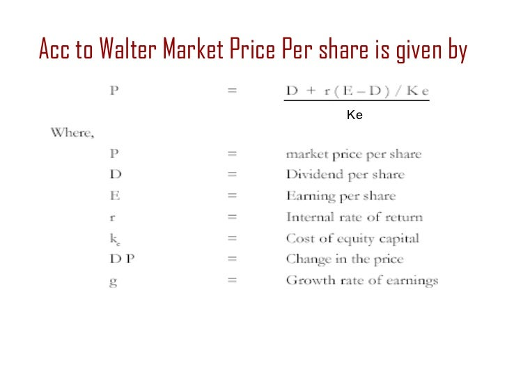dividend policy and share market price The annual dividend income per share divided by the current share price the dividend yield  dividend policy and its impact on market performance of the share in .