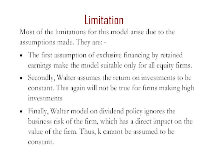 """dividend policy theory and its limitations The firm """"life-cycle"""" hypothesis and dividend policy: tests on propensity to pay, dividend initiation, and dividend  conclusions, limitations, ."""