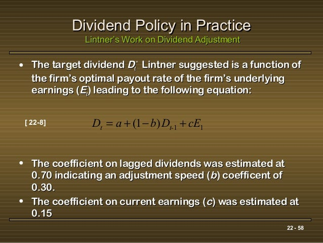 Report about dividend policy of any company suggestion form