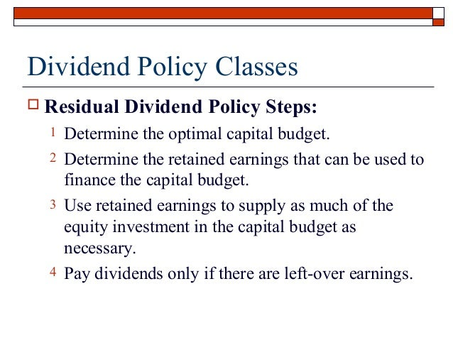 the setting of dividend policy The kochs' crazy dividend policy is normal for family-controlled firms  family-controlled public companies tend to pay lower dividends  setting.