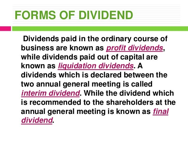 Receipt of liquidating dividends affect